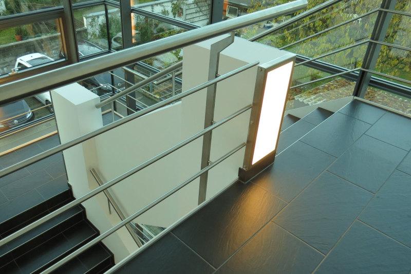 LED-Flächenlicht im Einsatz als Treppenhausbeleuchtung