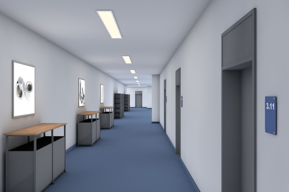 LED-Flächenlicht HIGH POWER-w für die Raumbeleuchtung