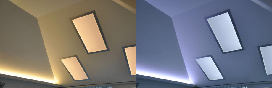 LED-Flächenlicht Module BASIC-ww im Einsatz