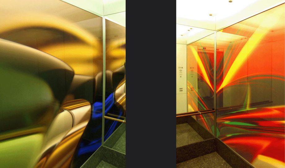 LED-Flächenlicht - Deka Holding Skyper Aufzüge - Kunst am Bau